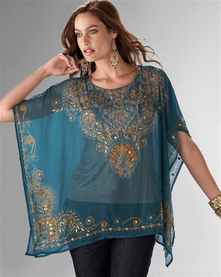 Crystal Water Poncho - Fall Must Have